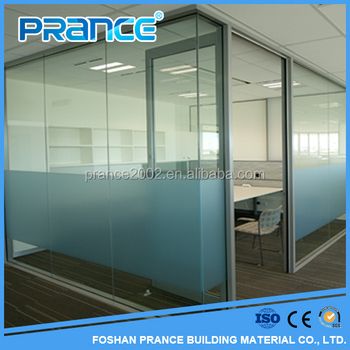 Clear Office Partition Glass Wall / Frosted Glass Bathroom Door / Glass  Partition Wall