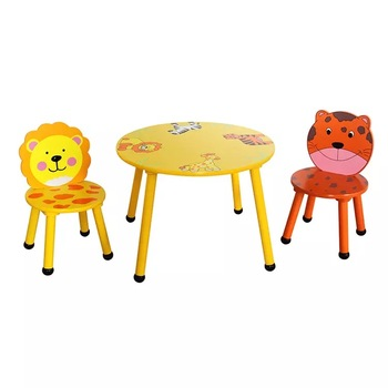 Kids Cartoon Metal Furniture Dining Round Table Chair Sets Seat And Product