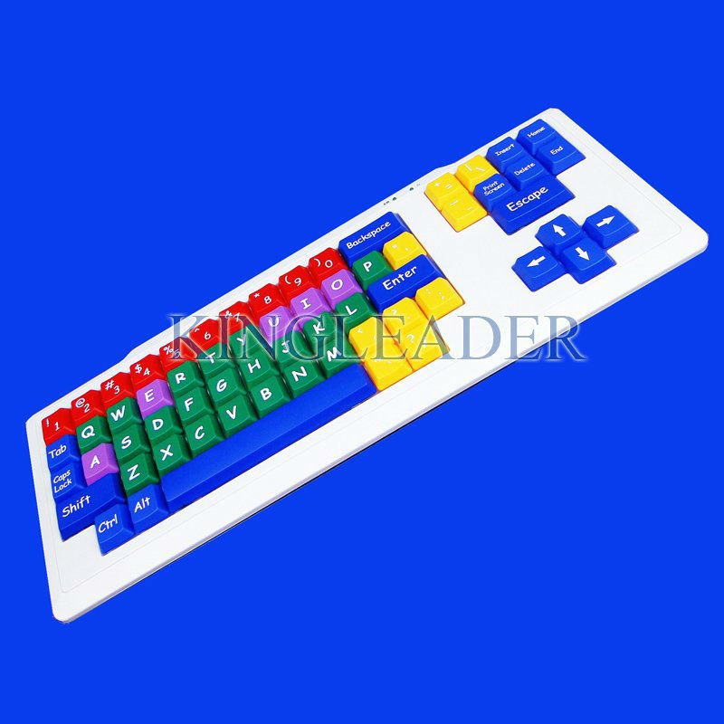 Waterproof color with large keys plug and play children keyboard