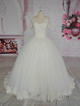 2016 Puffy Wedding Dresses Princess Fairytale Big Ball Gowns Muslim