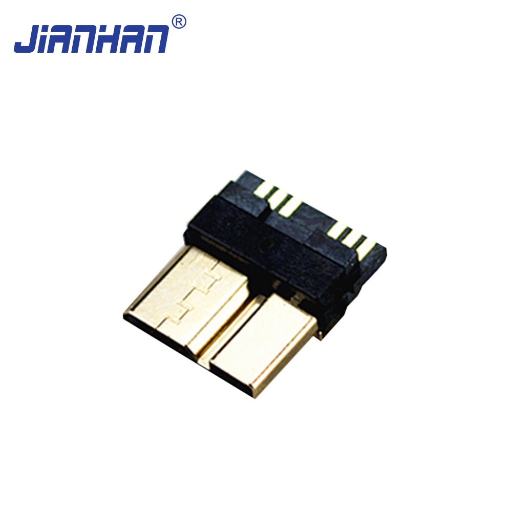 Micro USB 3.0 B Type Male 10 Pin Din Connector for Projector
