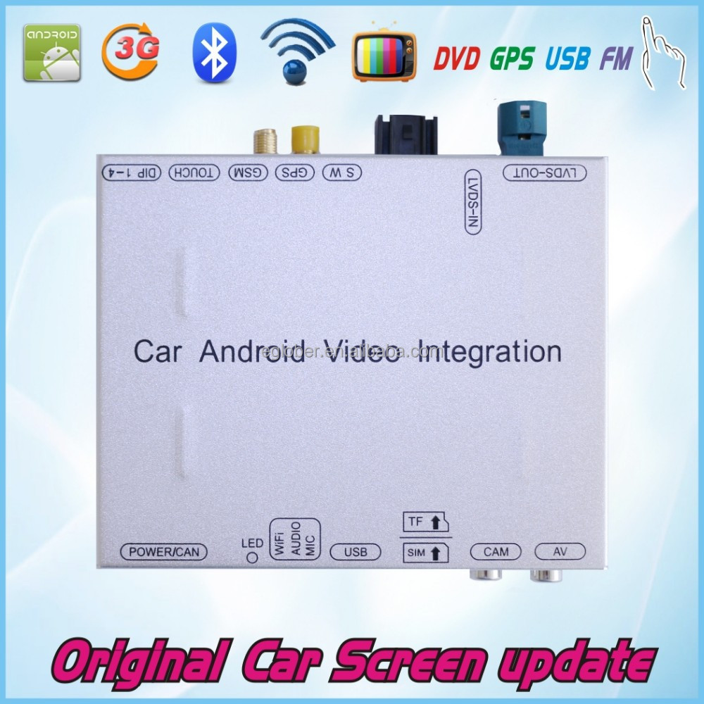 Car Android multimedia video interface for Mercedes GLK CLK ML GL C E car models 2015