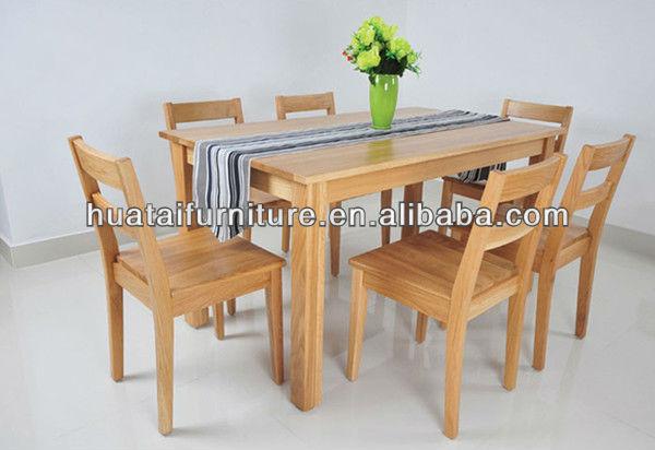 Pas cher bois massif table manger simple set cuisine en bois massif table e - Table a manger plus chaise pas cher ...