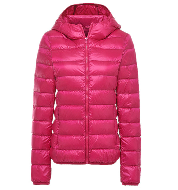 China Factory Custom Logo Ultralight Packable Winter Ladies Down Feather Jacket Women Jacket With Hoods