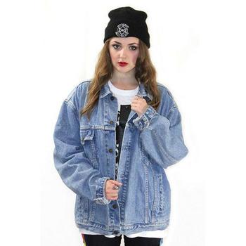 f7cb86d2f7d8 China clothing button down light blue blue oversize women denim jacket