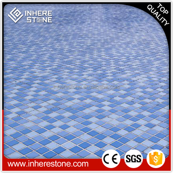 Natural Stone Mosaic Floor Tile Blue Swimming Pool Flooring