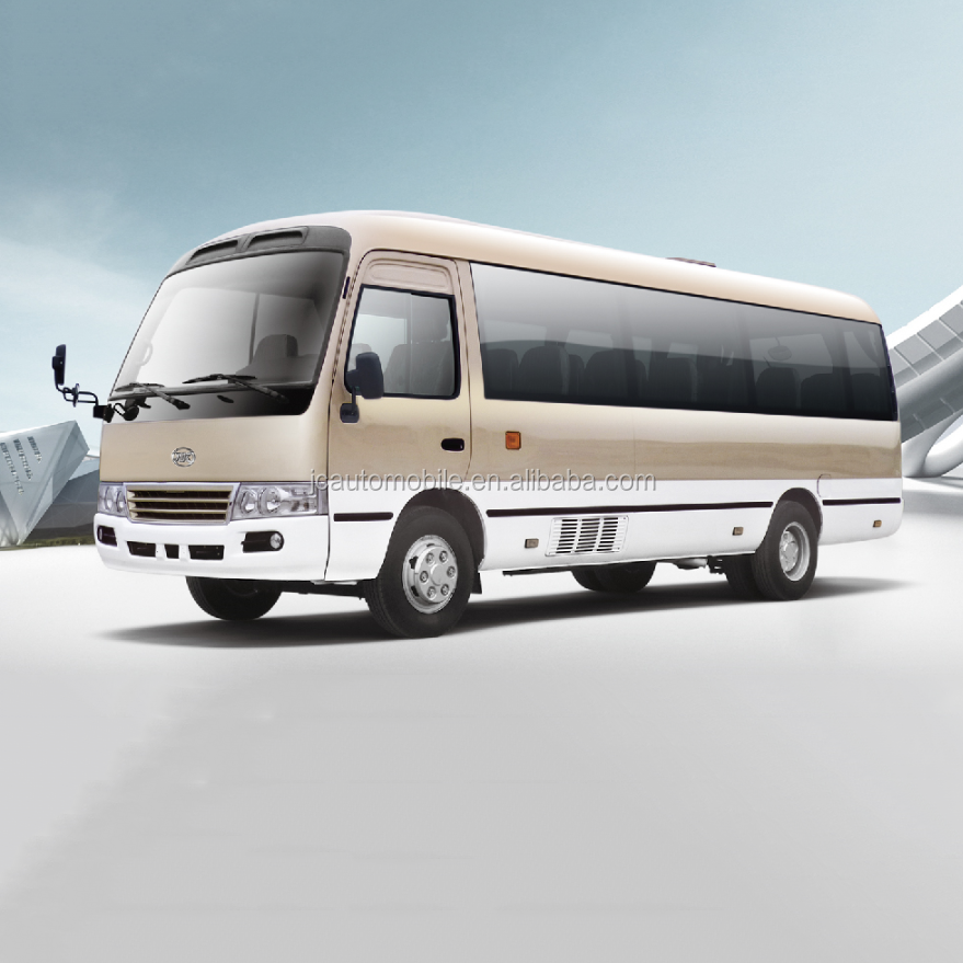 Factory supply 26 seaters toyota coaster mini bus for sale, 2+1 seats lay out
