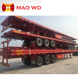 China manufacturer price new flat bed container truck flatbed semi trailer