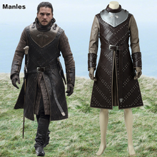 Game Of Thrones Seizoen 7 Kostuum Jon Sneeuw Cosplay Outfit Halloween <span class=keywords><strong>Carnaval</strong></span> Kleding Volwassen <span class=keywords><strong>Mannen</strong></span> Superheld Kostuum Tailored