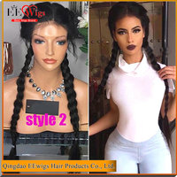 long silky straight raw indian remy hair braided full lace wig