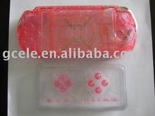 clear pink replacement shell for psp3000