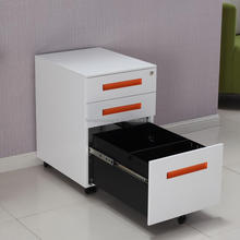 molded metal lockable mobile office drawer storage cabinets