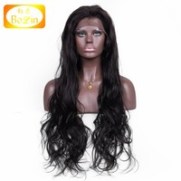 Wholesale Cheap Good Quality 100 Chinese Peruvian Brazilian Indian Virgin Remy 100 Percent Human Hair Full Lace Wig