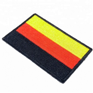German Flag 3 x 2 inch Iron On Embroidered patch