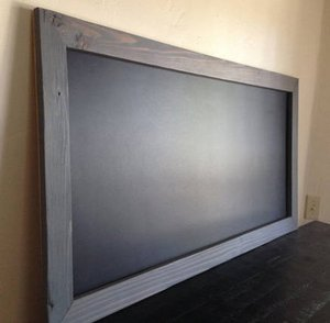 "24""x48"" Large Chalkboard MAGNETIC, Large Menu Board, Rustic Wedding Chalkboard"
