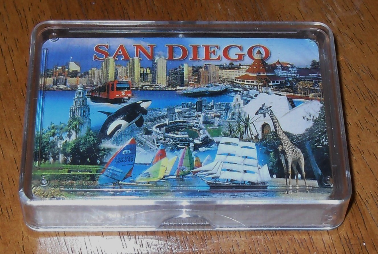 San Diego Bay Company Playing Cards - San Diego City Collage