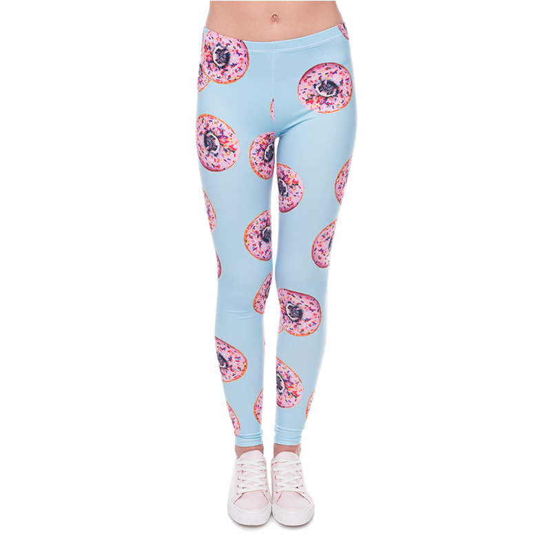 donuts with pugs blue wholesale leggings sports leggings fabric