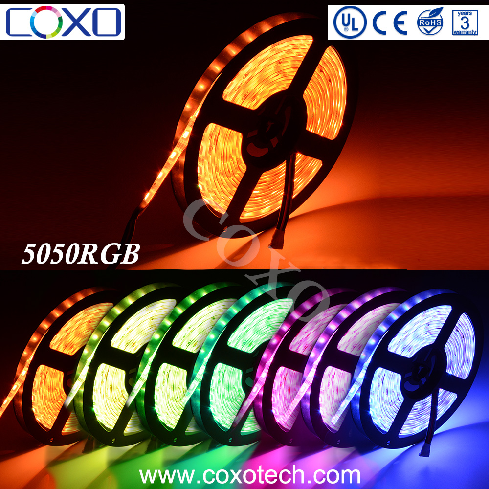 Hot Sell Wholesale 12v 60 Leds/m SMD 5050 RGB Flexible Led Light Strip