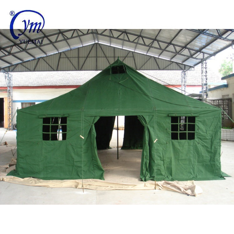Customized 4.8x4.8 m 10 man green military tent big army tent