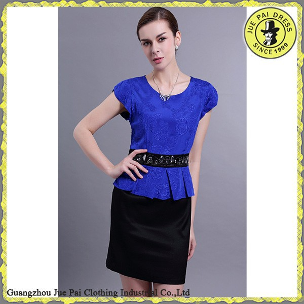 Fancy Fashion New Design Occupational Dress For White Collar