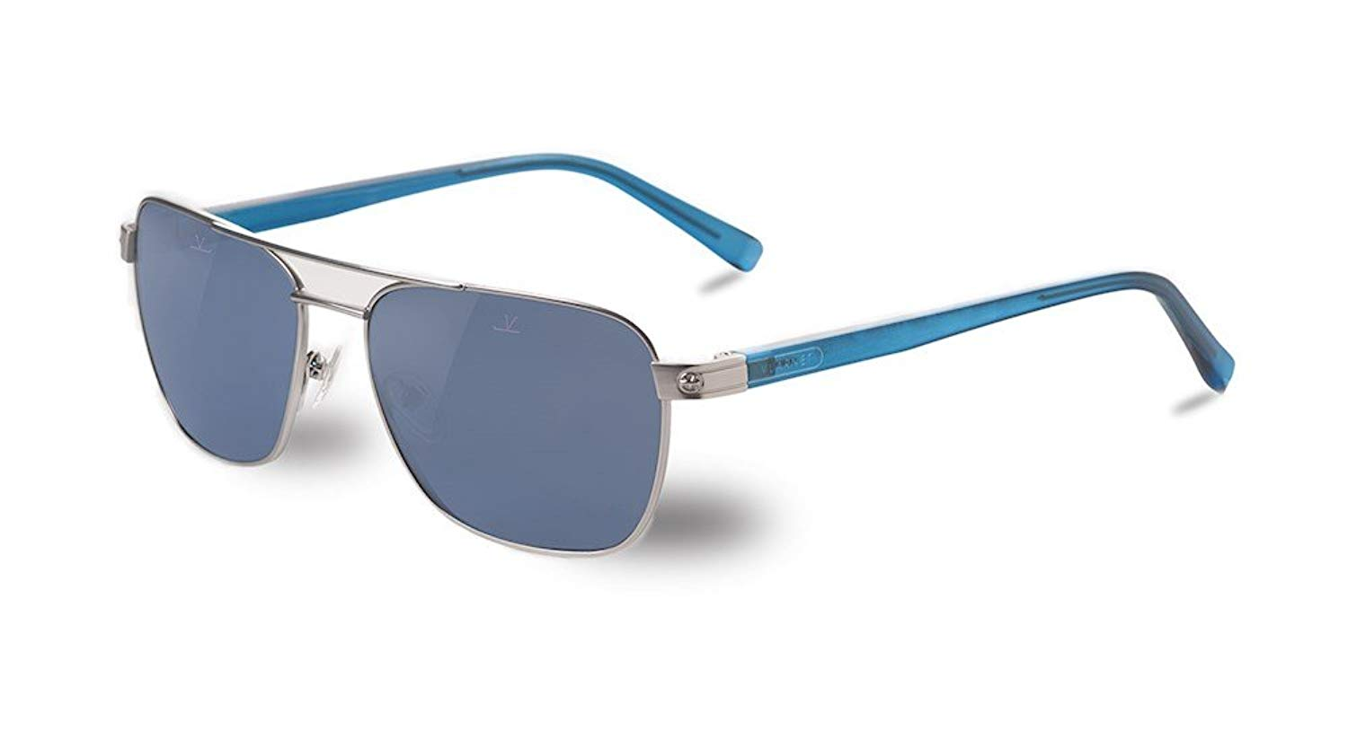 0cbe834780 Get Quotations · Vuarnet VL150600020622 Sunglasses Drivers Sunglasses  Silver Blue Frame Polarlynx PX1000 Polarized Grey Glass Lens