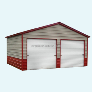 3 Car Metal Garage/large Metal Shed/steel Construction Factory Building -  Buy Prefabricated 3 Car Metal Garagelow Cost Factory Workshop Steel