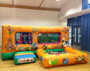 inflatable tots play pen bouncy castle with ball pond