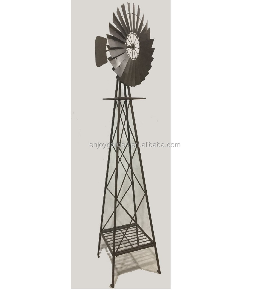 Outdoor Garden Vintage Metal Windmill