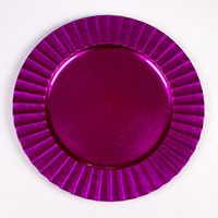 Cheap Wholesale Plastic Plate Pink Charger Plates