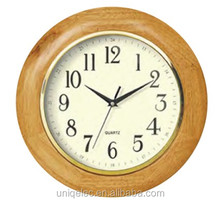 Round wood frame customized wall clock