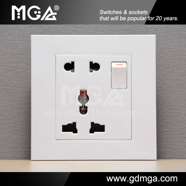 13A Multi Socket Wall Sockets Electric Switch And Universal