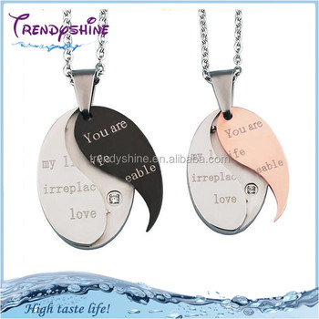 Fashion custom engraved meaning eternal love couples pendants fashion custom engraved meaning eternal love couples pendants necklace aloadofball Choice Image