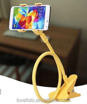 new concept 68a77 92398 Flexible Holder Car Bed Desk Lazy Bracket Mobile Phone Stand For Iphone 6  5s Samsung - Buy Latest 360 Degree Rotating Universal Plastic Cell Phone ...