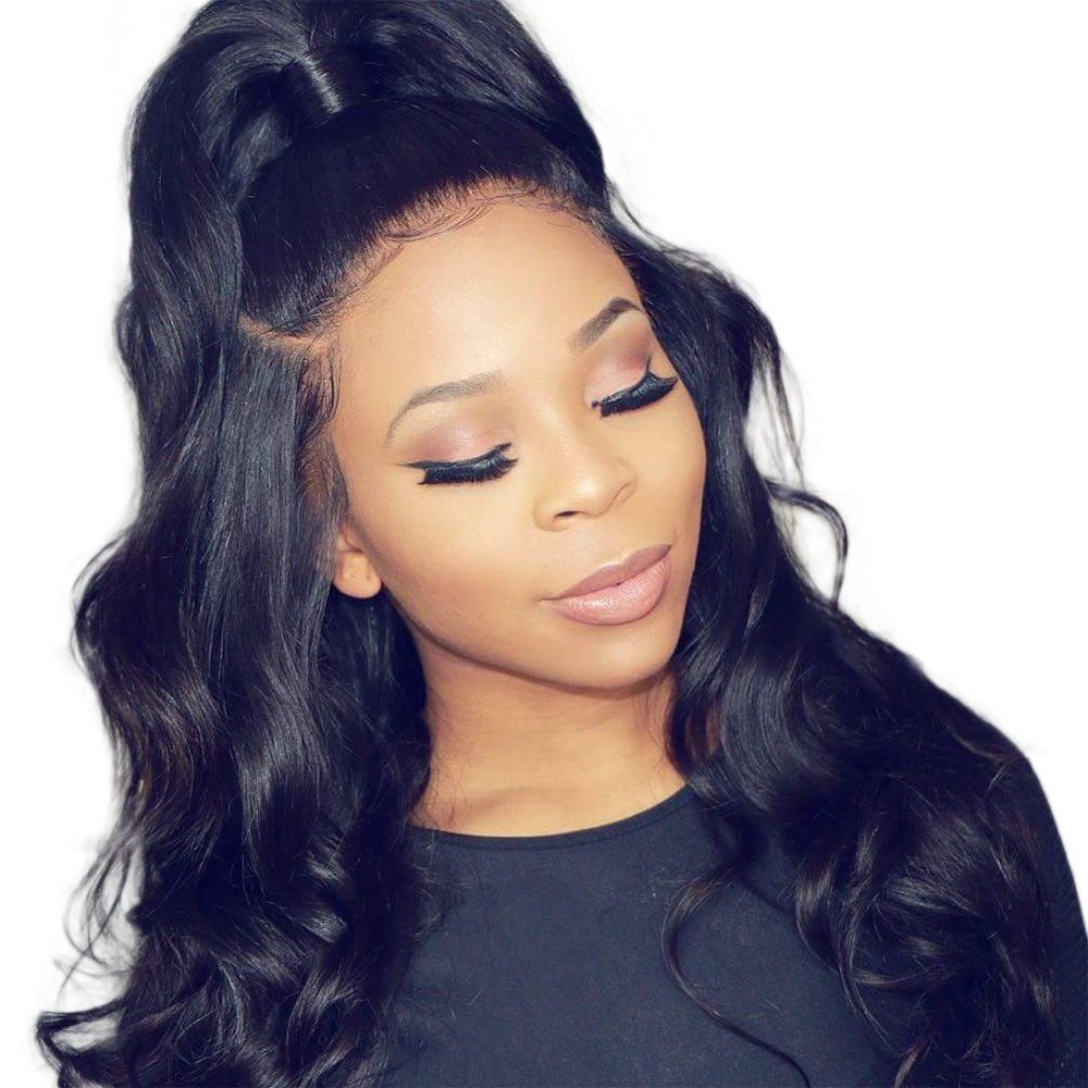Купить со скидкой #MARCH EXPO SALES  6 inch to 28 inch Natural Wave Virgin Brazilian Hair Pre Plucked Full Lace Wig fo