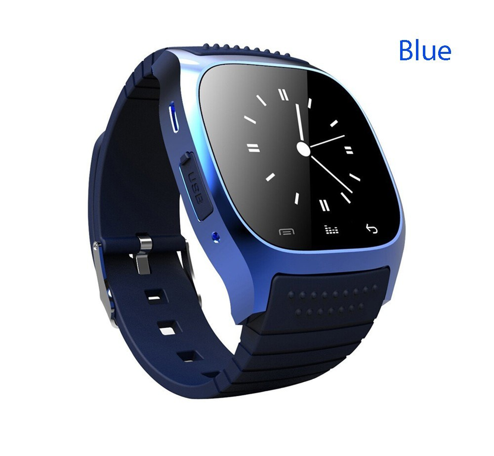 Hot in 2017 fitness smart watch M26 smartwatch phone with LED touch screen pedometer for android xiaomi phone