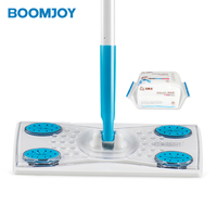 BOOMJOY trendy product N2 TV shopping floor cleaning products factory price non woven mop with disposable wipes flat mop