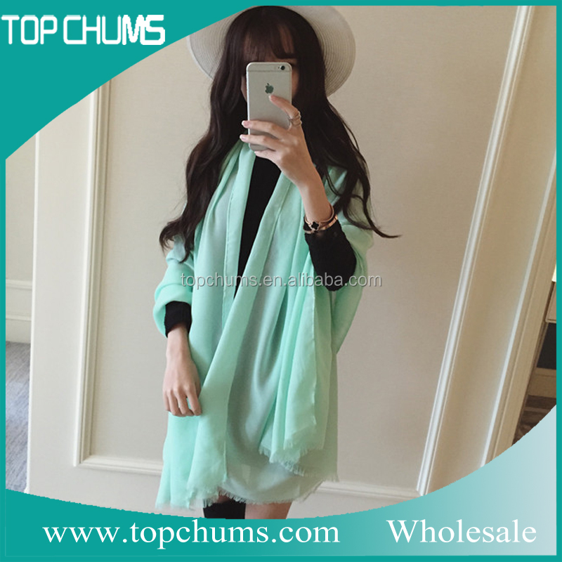 Hot selling cheap pure silk ombre scarf stole shawl scarf