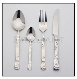 BRILLIANT BC3043Fiji Finland embossed stainless steel cutlery set with top quality/stainless steel Embossed handle cutlery set
