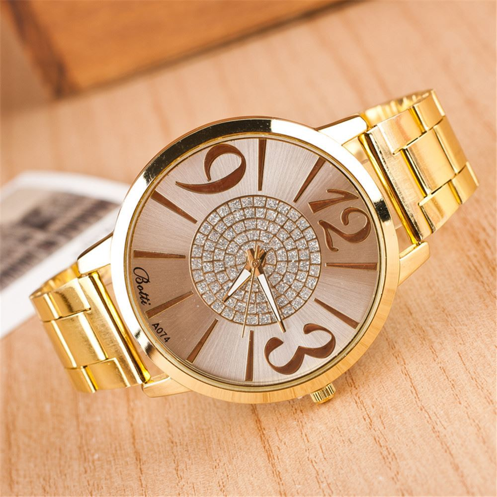2016 Nueva Marca pulsera de reloj mujeres de acero inoxidable vestido relojes  señoras reloj caliente d4675ecd30ae