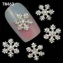 10pcs Alloy 3D Nail Art Stickers White font b Snowflakes b font font b Christmas b
