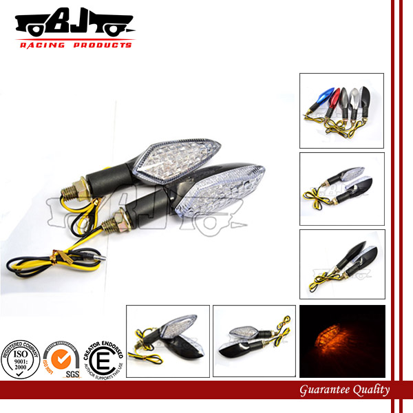 BJ-SL-041L Ultra bright long stem plastic housing amber 15 LED warning motorcycle turn signal lights
