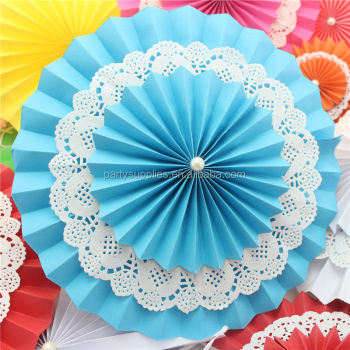 Party Paper Fan Flower Fan Wedding Birthday Decoration