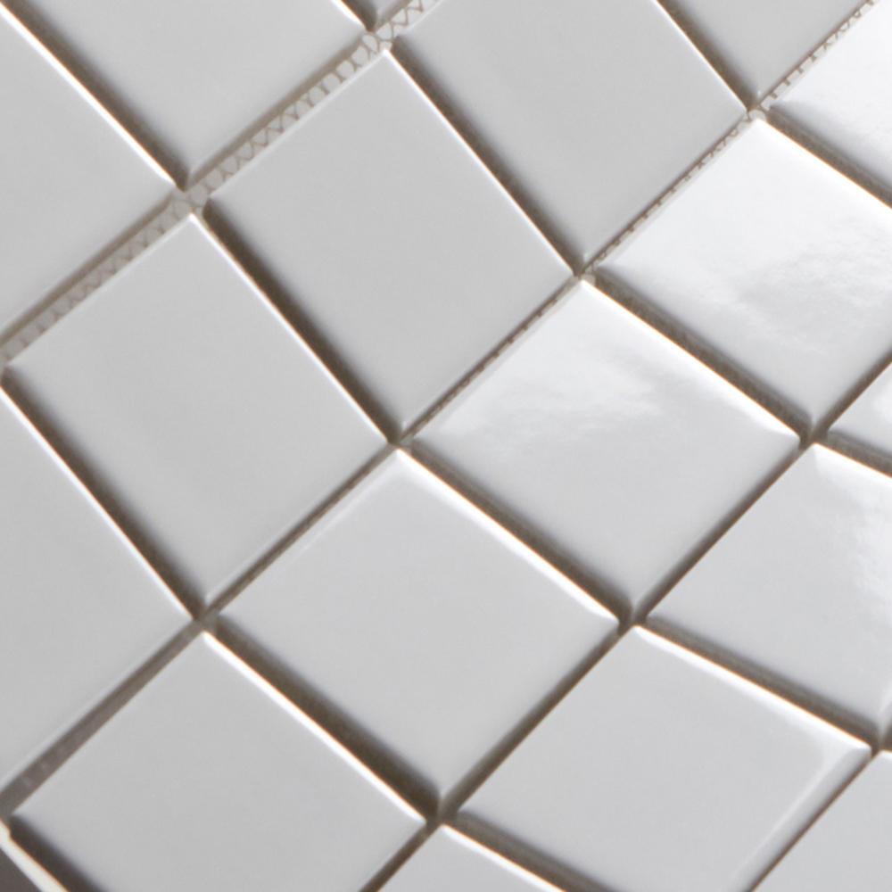 Nieuwe ontwerp mozaïek wanddecoratie wit geglazuurde keramische ...