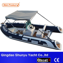 CE 4.7m Pvc or Hypalon Material Fiberglass Hull Boat Rigid Inflatable Boat With CE