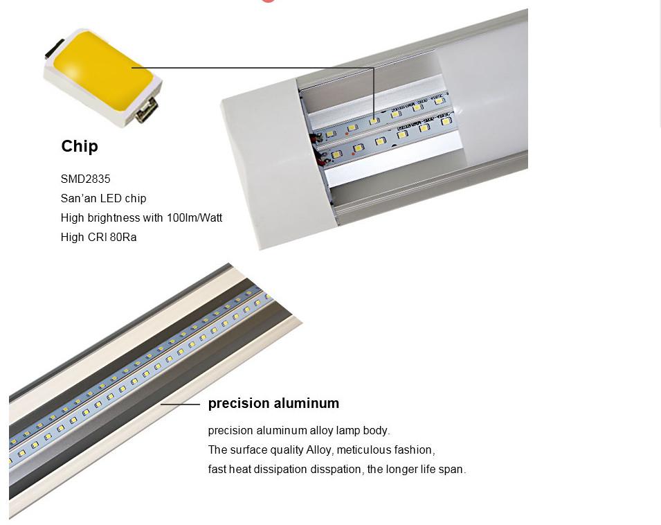 Hoge Lumen 72W Led Zuivering Lamp SMD2835 4ft 1200 Mm 60W Led Batten Verlichting Commerciële Kantoor Celling Verlichting armaturen