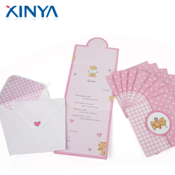 XINYA Factory Direct China Full Color Printing Custom Paper Cards
