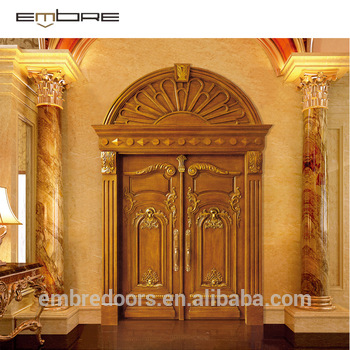 Wooden Double Door Round Designs Wooden Front Double Door