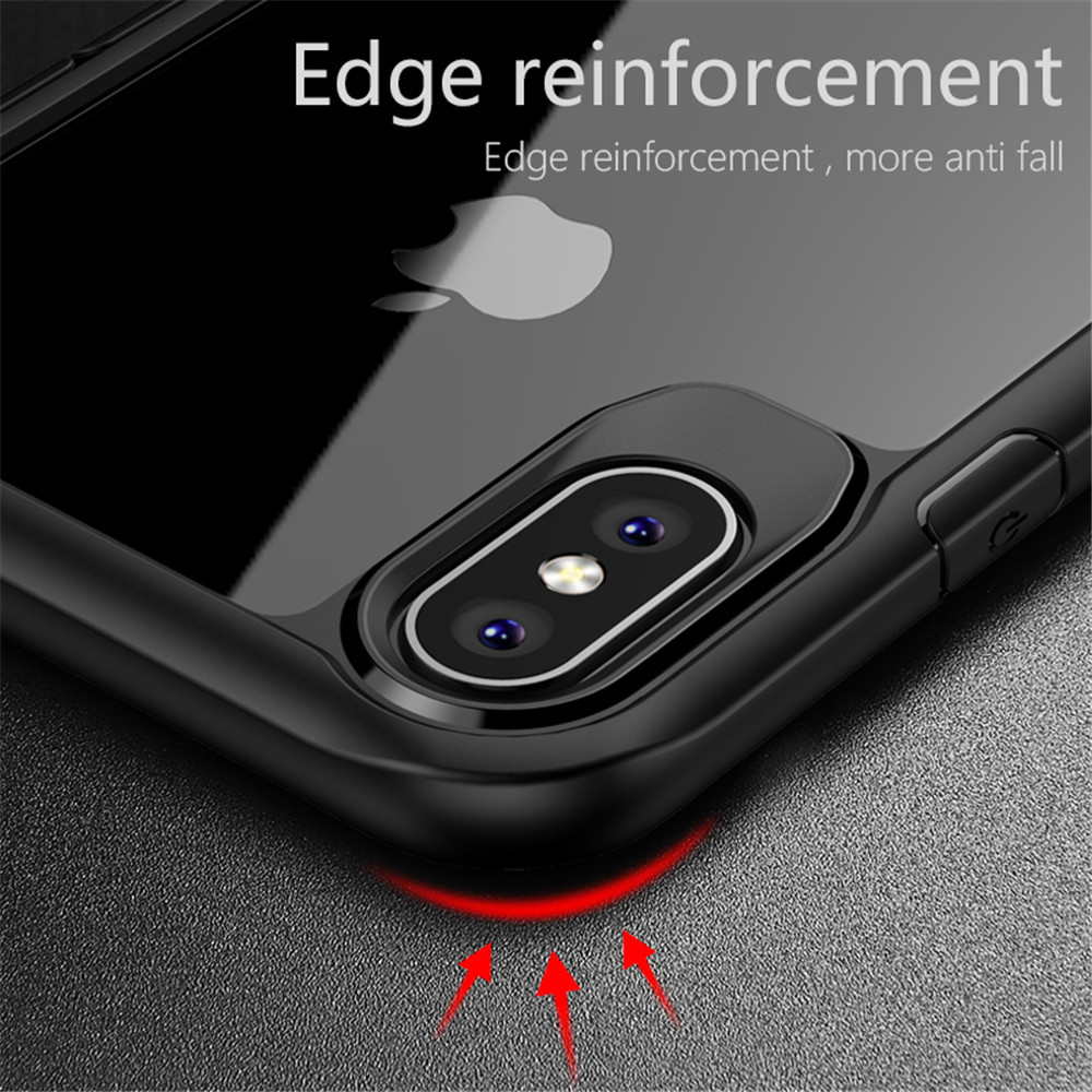 Transparent Soft Silicone TPU Anti-knock Back Cover Mobile Phone Cases For iPhone X