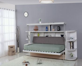 Modern Kids Murphy Bed Design Single Wall Bed With Pull Down Desk
