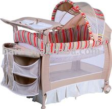 New color 3-part turning canopy baby crib bedding set playyard baby baby cot